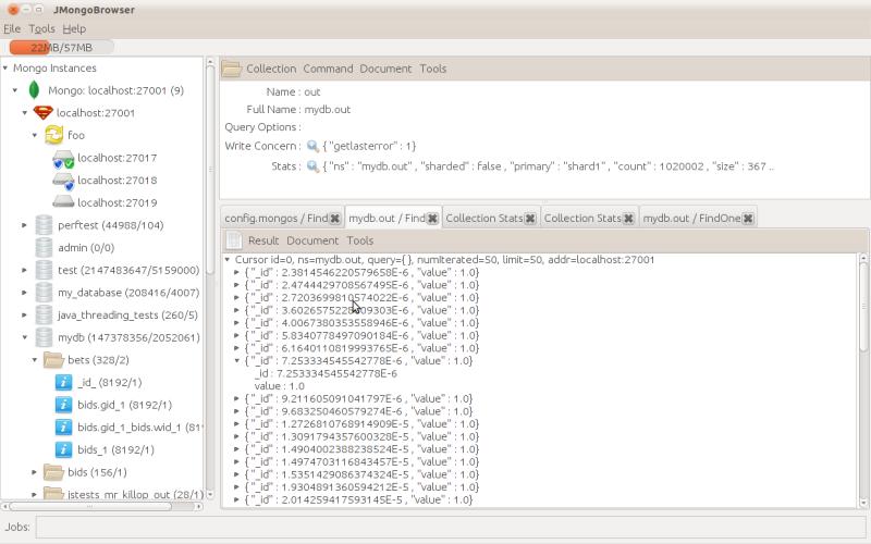 JMongoBrowser - MongoDB GUI admin tool.