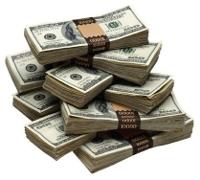 Pile of money - overseas money transfer