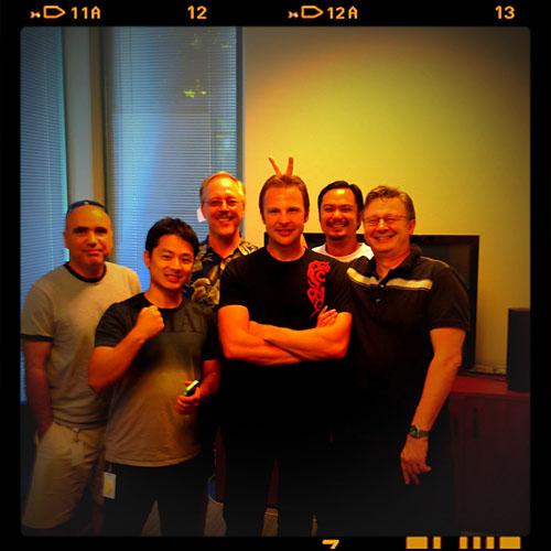 My international team (left to right): Keyvan, Dilip, Steve, Me, JP and Oleg.