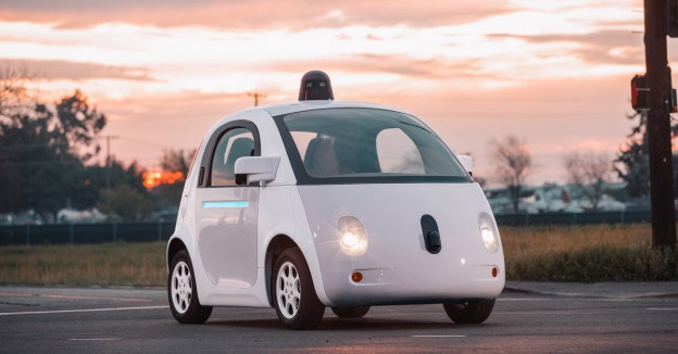 A roundabout with a stop sign? Confused? So was this Cute Google Self-Driving Car. Enjoy this video!